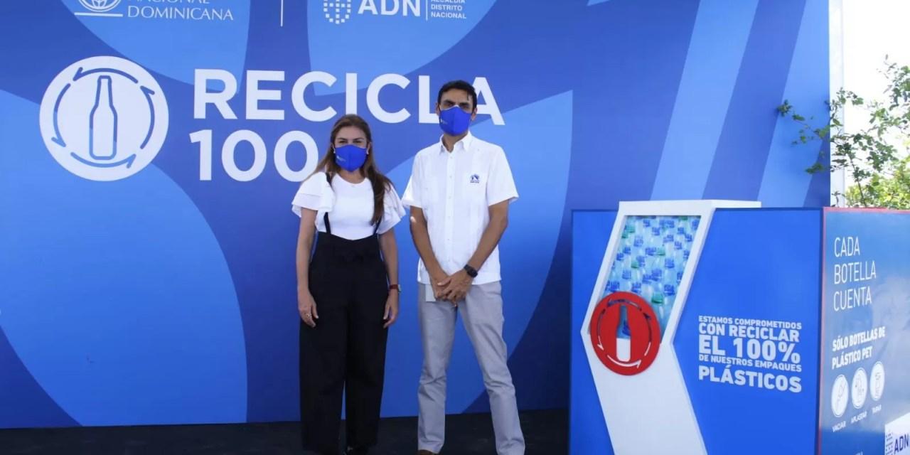 CND instala 25 centros de acopio de botellas de plástico en colaboración con la Alcaldía del DN