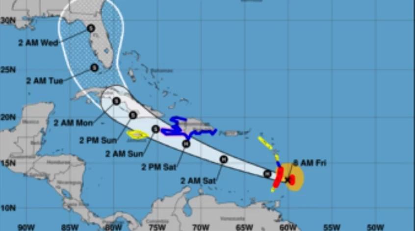 El Caribe amenazado por el huracán Elsa