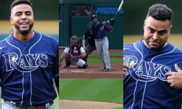 Video: Nelson Cruz dispara jonrón en su debut con los Rays de Tampa