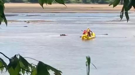 Video: Pensaron que estaba muerto, pero el hombre solo dormía una siesta en el río