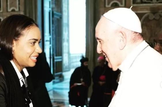 Lo que le dijo el papa a Betty Gerónimo