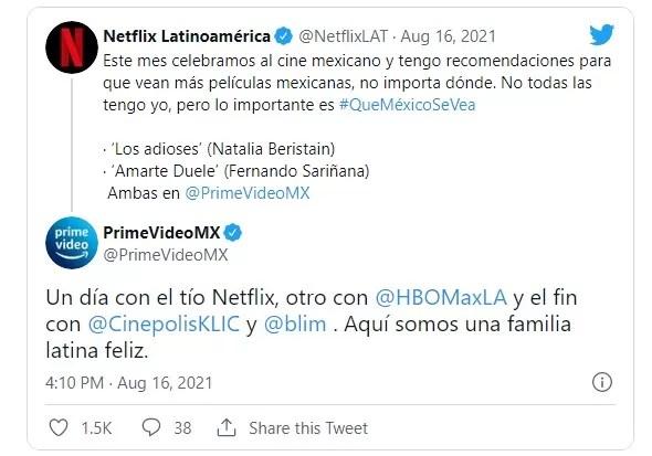 Netflix hace publicidad para la competencia y Amazon Prime responde la provocación