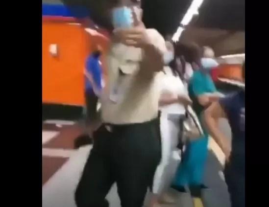 """Incidente en el Metro: """"Yo llevo una bomba será"""""""