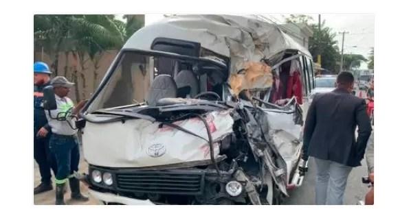 11 heridos en accidente carretera San Francisco de Macorís-Nagua