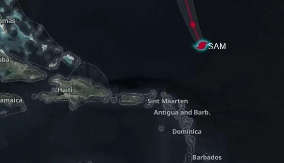 Las 6 provincias en alerta verde por posibles efectos huracán Sam