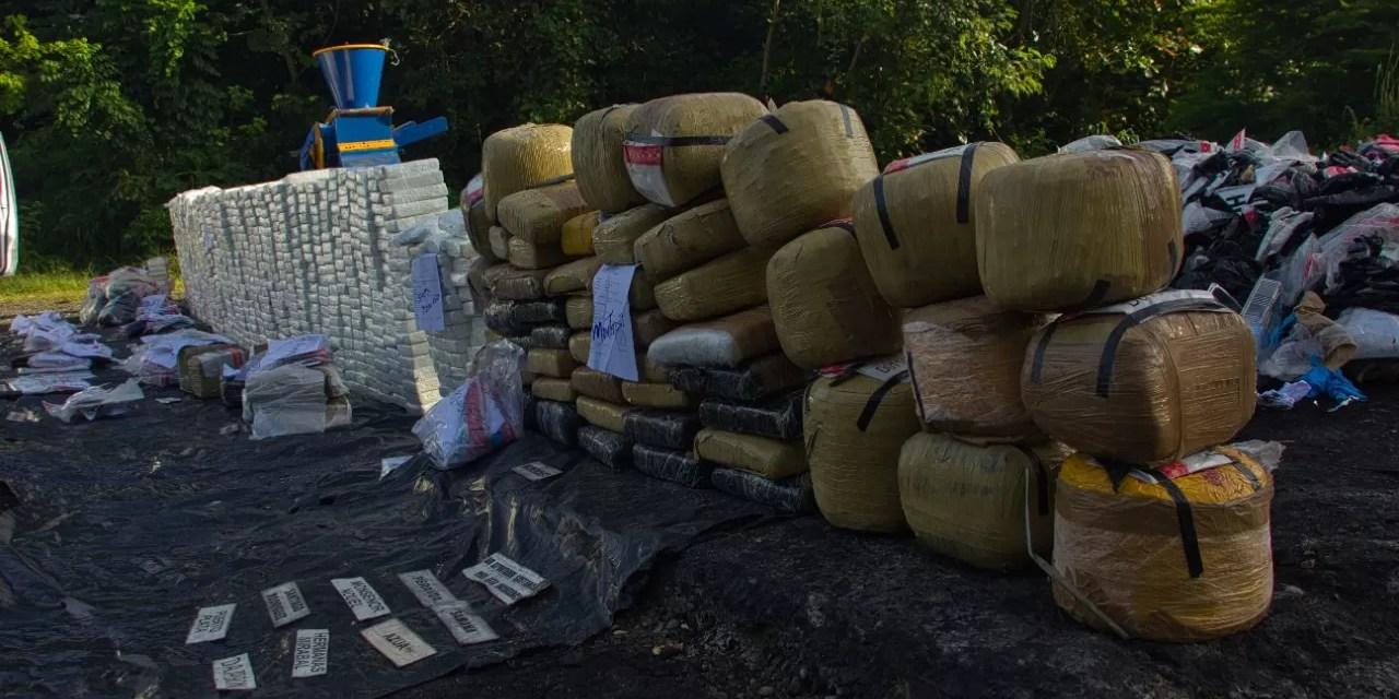La Procuraduría General quema más de una tonelada de drogas