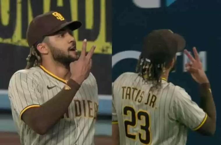La reacción de Fernando Tatis Jr. tras ser abucheado por fans de los Dodgers