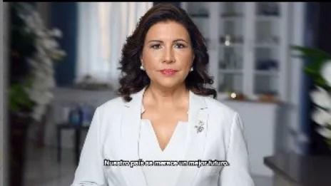 Margarita Cedeño anuncia aspiraciones presidenciales