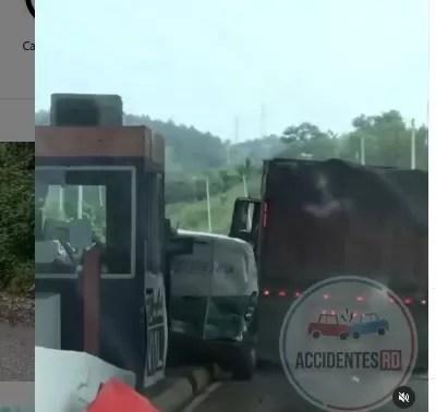 Video – Accidente en el peaje Circunvalación Santo Domingo