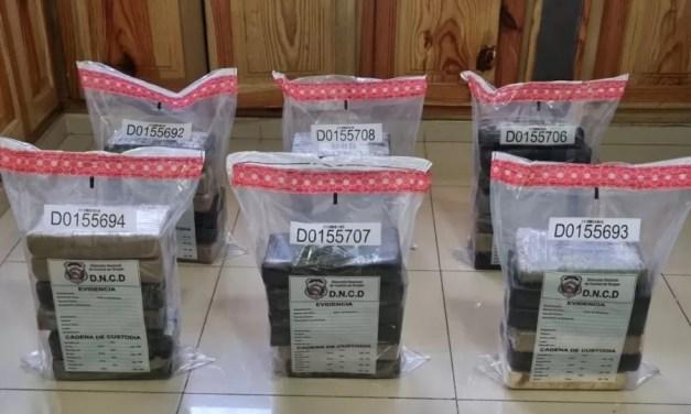 Incautan 37 paquetes presumiblemente cocaína en puerto de Haina