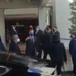 Abinader en el funeral de Leslie Rosado