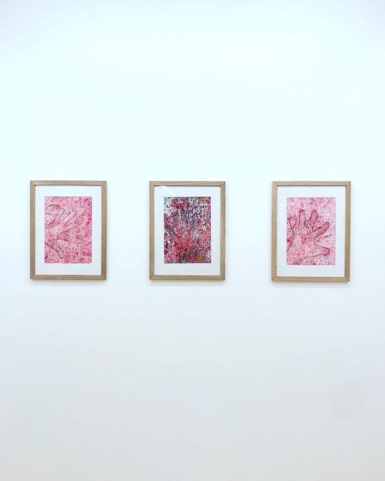 """Vue de l'exposition """"Henri Ughetto : œuvres sur papier"""""""
