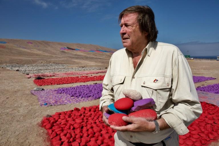 Jean Verame dans le désert d'Atacama, Chili, 2017, © Jean-Claude Francolon
