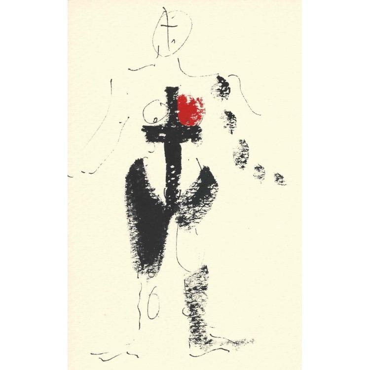 Henri Ughetto, Sans titre, d'une série de 11 dessins sur papier, années 1960. Photo: Enseigne des Oudin.