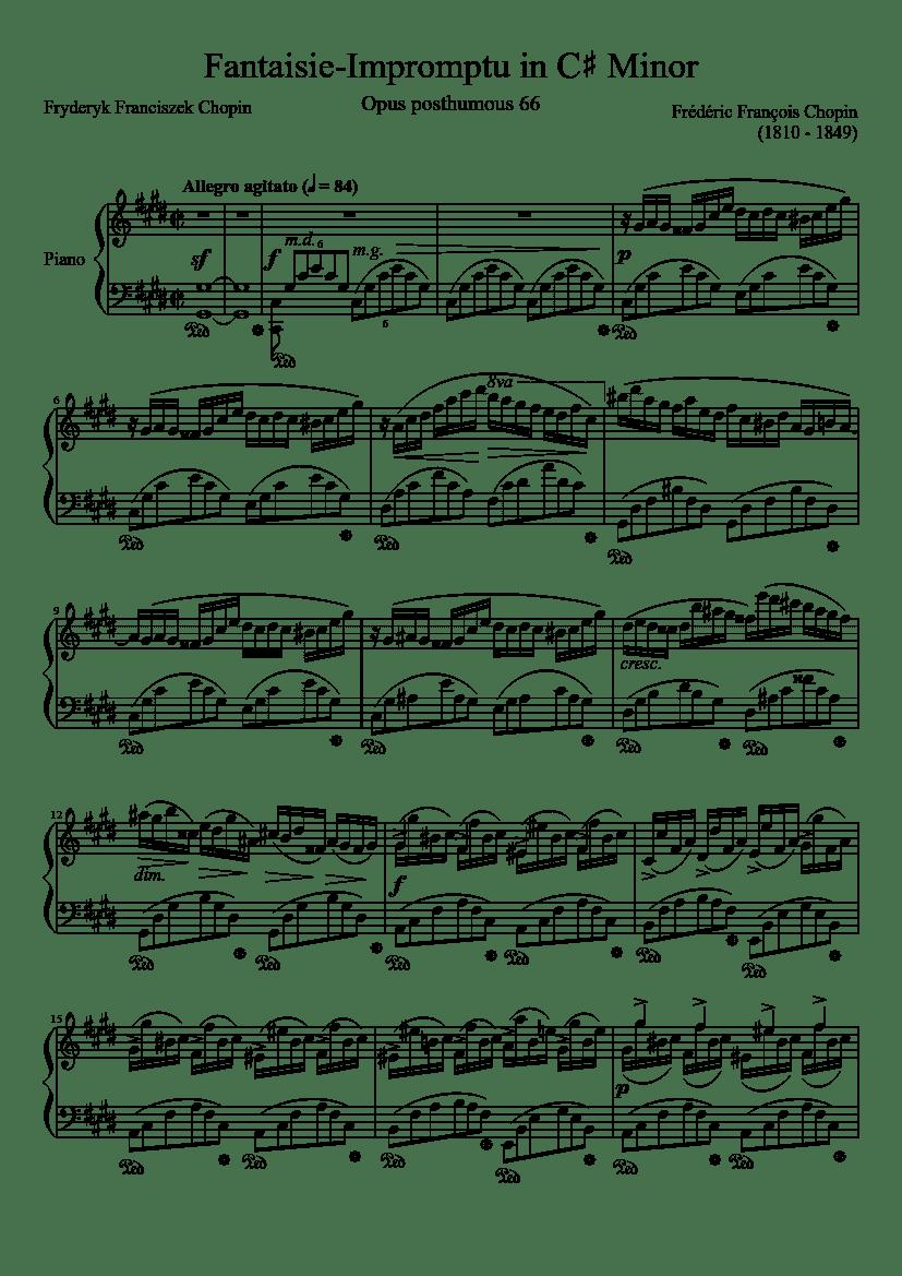 """Extrait de la Fantaisie Impromptue en C# minor de Chopin pour l'article """"10 Erreurs Commises Par Les Débutants À Bannir Absolument"""""""