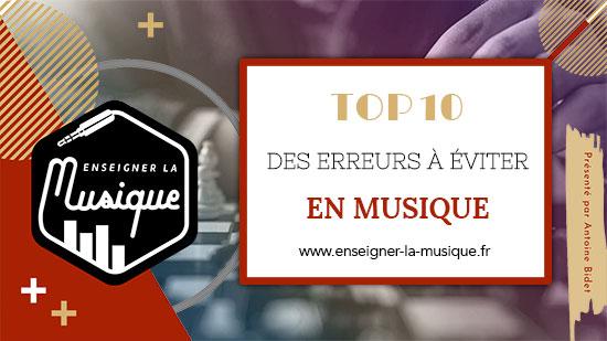 Top 10 Des Erreurs À Éviter En Musique ❌