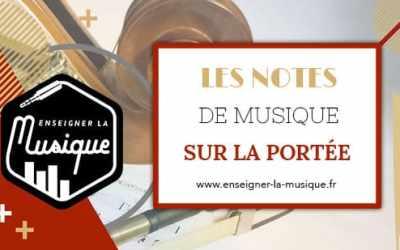 Les Notes De Musique Sur La Portée 🎼