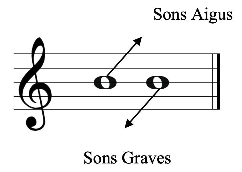 """Différence entre les notes aigues et graves pour l'article """"Les Notes De Musique Sur La Portée"""""""