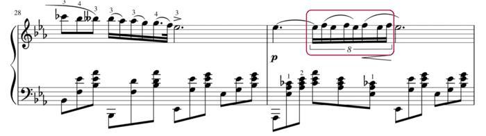 """Temps divisé par 8 dans la Nocturne n°2 de Chopin pour l'article """"Rythme Binaire Ou Ternaire"""""""