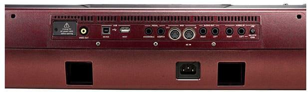 """Interface arrière du KORG PA-1000 pour l'article """"Bien Choisir Son Clavier"""""""
