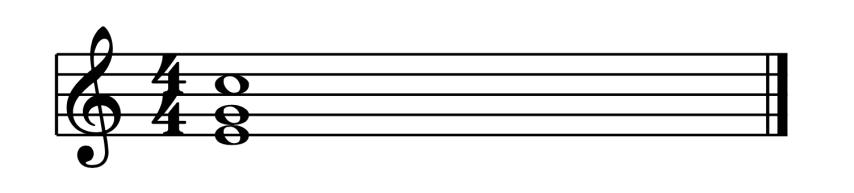 """Accord de Do Majeur au 1er Renversement pour l'article """"Les Cadences En Musique"""""""