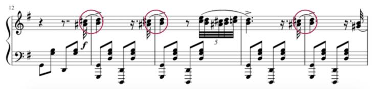 """Exemple de la liaison d'expression entre 2 notes pour l'article """"La Liaison En Musique"""""""