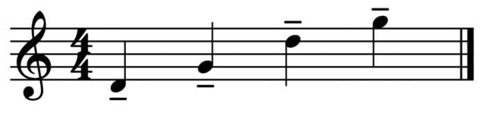 """Représentation de notes lourées pour l'article """"Le Staccato Musique Suspendue"""""""