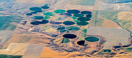 Center pivot is the most common type of irrigation in many parts of the U.S. iStock photo © James Brey