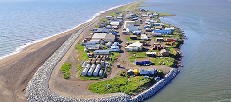 Facing coastal erosion, the village of Kivalina, Alaska, sued several large energy companies, claiming that global warming had resulted in its forced relocation. Flickr: Photo by ShoreZone (Flickr/Creative Commons)