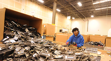 Sorting and recycling e-waste