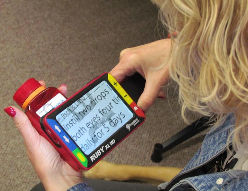 An example of a technological device used to help those with low vision.