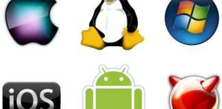 Logo jenis-jenis Operating System SIstem Operasi handphone dan komputer