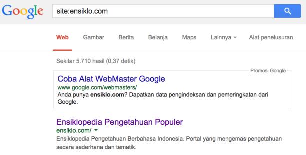 Wordpress tidak terindeks Google