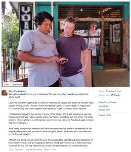 Mark Zuckerberg dan Pemilik Toko Kaos di Kampung Cyber Yogyakarta
