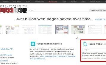 Cara Manual Mendokumentasikan Halaman Online di Wayback Machine