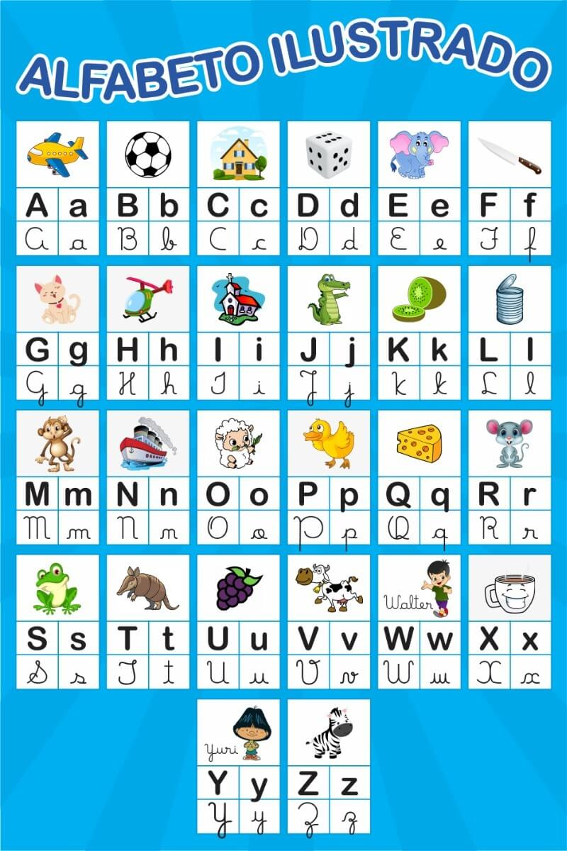 abecedario ilustrado pedagogico para imprimir