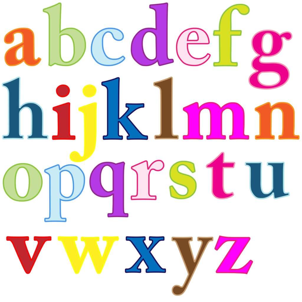 alfabeto minusculo colorido para imprimir