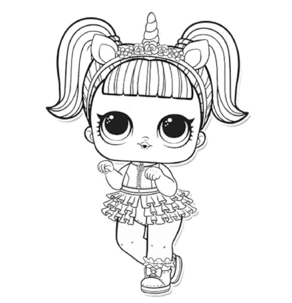 Desenho De Unicórnio Para Imprimir E Colorir Lol E Kawaii