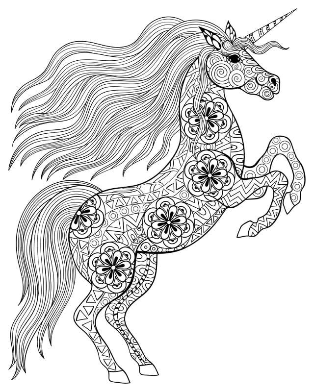 unicornio todo desenhado