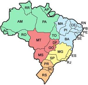 mapa brasil estados siglas