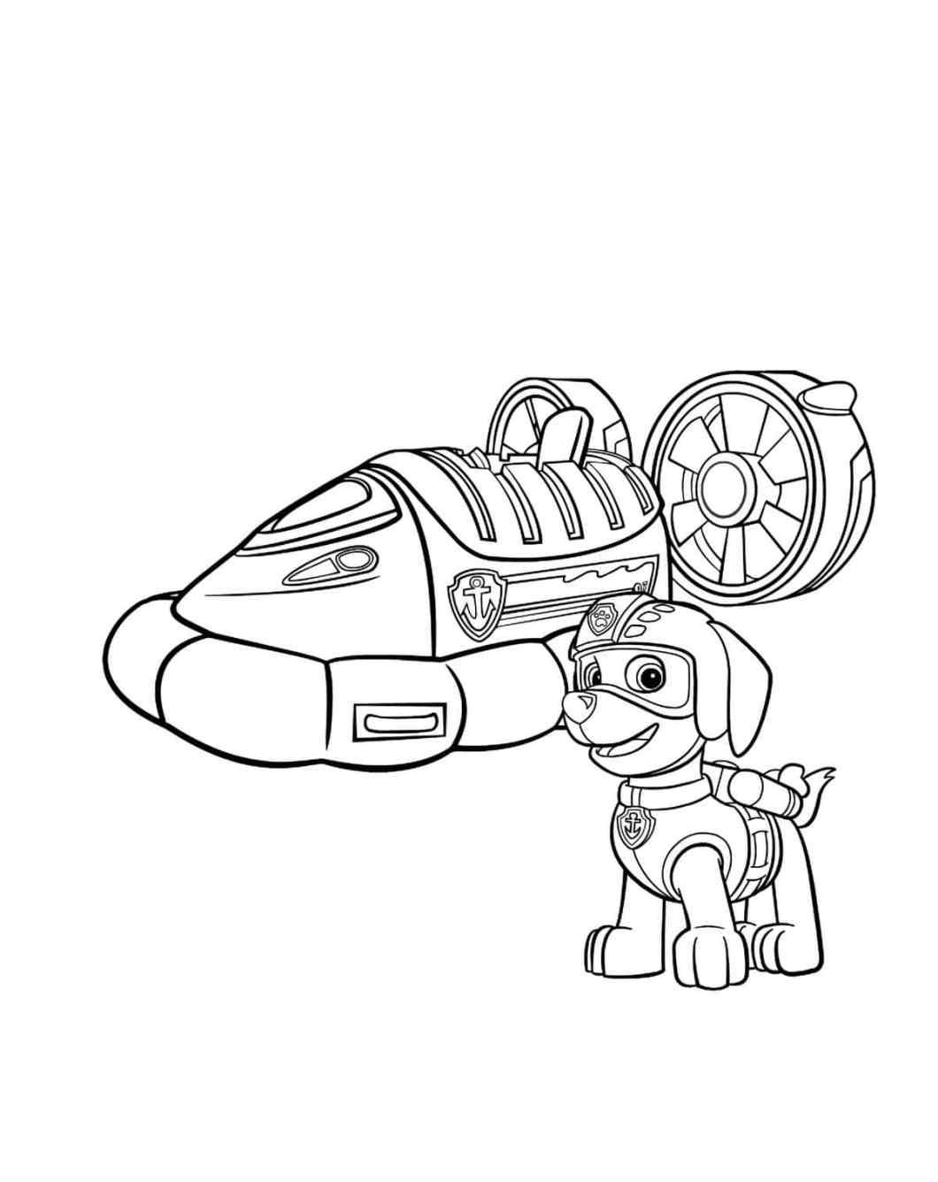 desenhos para colorir da patrulha canina online