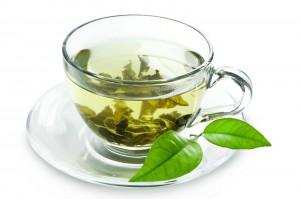 drinking green tea