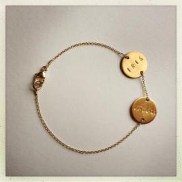Marte Frisnes Treasure Name Bracelet