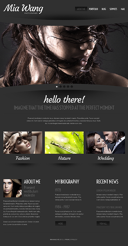 black wordpress templates