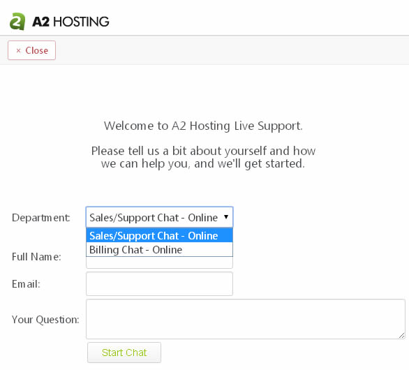 a2 hosting support services