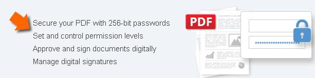 protect pdf document