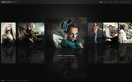 Black Style Photographer Portfolio WordPress Theme