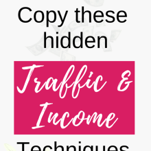 hidden traffic and income technique