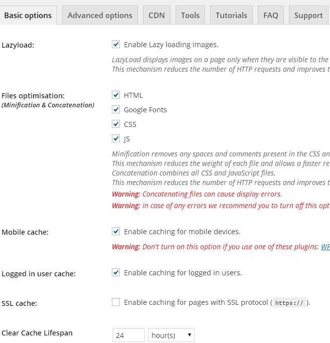 wp rocket blog optimizer