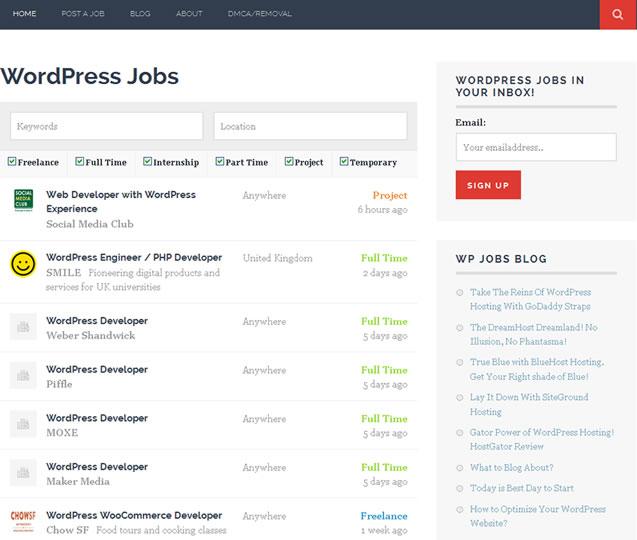 wordpress jobs
